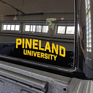 Pineland University Vinyl Cut Sticker Stickers American Marauder YELLOW 10""