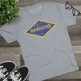 Rangers Diamond Triblend Athletic Shirt T-Shirt Printify