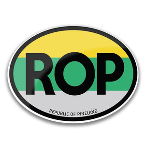 Republic of Pineland Oval Travel Sticker - American Marauder