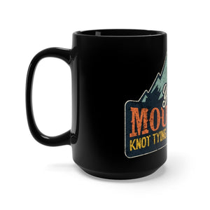 Retro Ranger School Yonah Mountain 15oz Black Mug Mug Printify 15oz