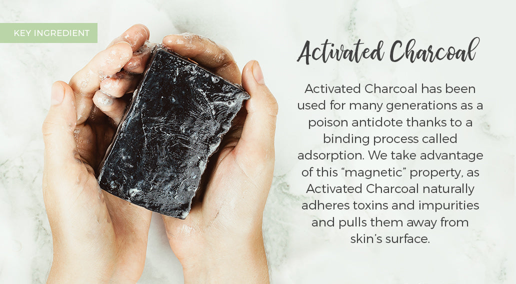 picture of key ingredient charcoal and its benefits