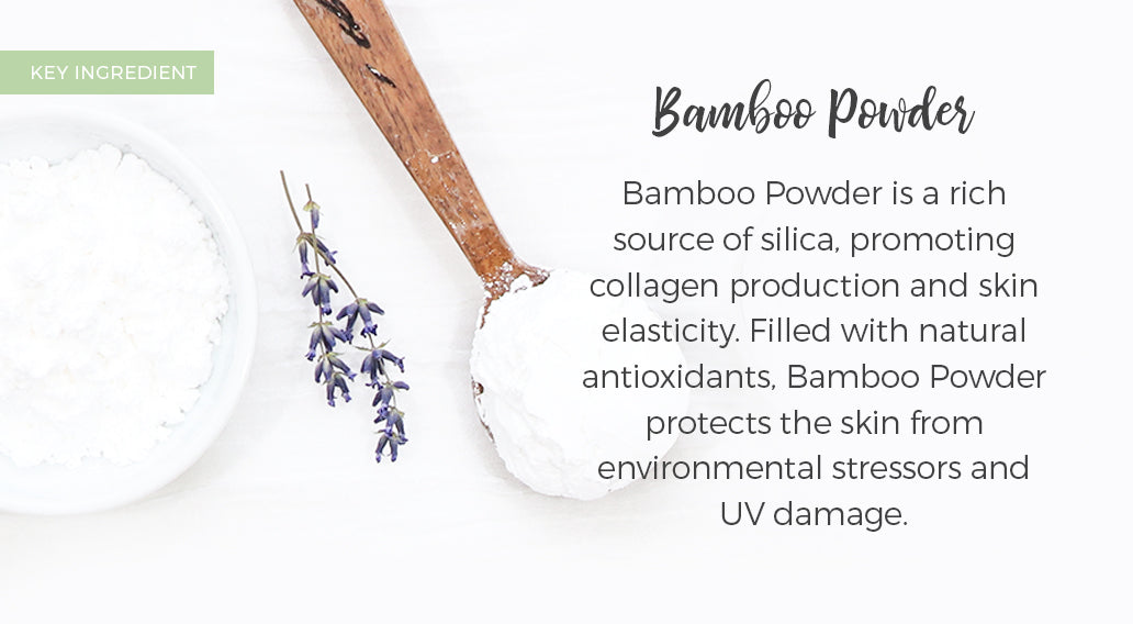 picture of key ingredient bamboo powder and its benefits