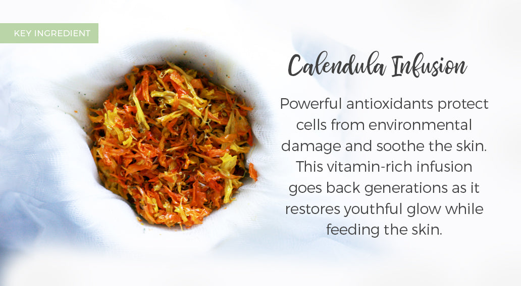 picture of key ingredient calendula infusion and its benefits