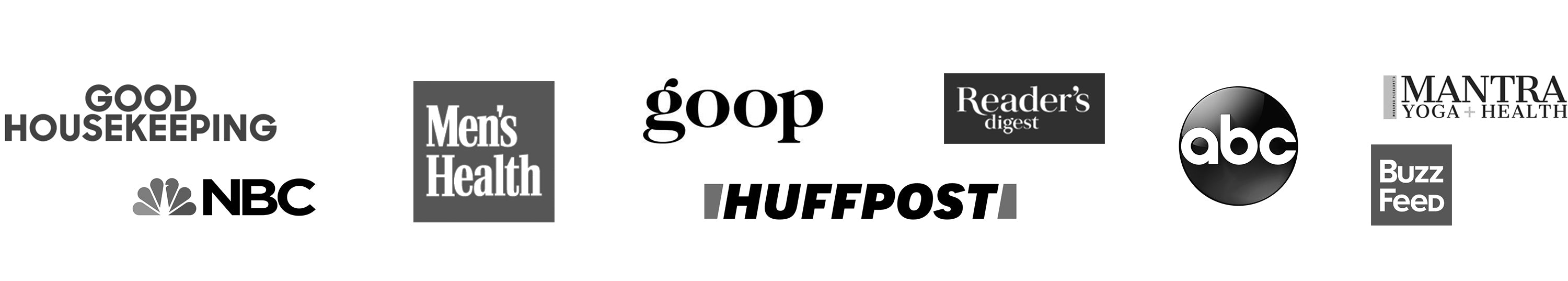picture of good housekeeping nbc mens health goop huffpost readers digest abc mantra buzz feed logos