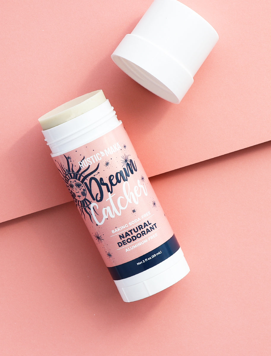 picture of jasmine and rose deodorant with cap off