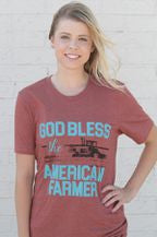 Women's God Bless the American Farmer Tee [AMFARMER]