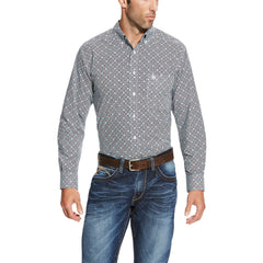 Ariat® Men's Slater Grey Print Long Sleeve Button Down [10019690]