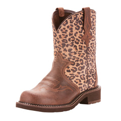 Ariat® Women's Brown Leopard Fatbaby Round Toe Boot [10025024]
