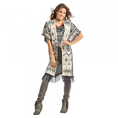 Powder River Women's Aztec Design Kimono Sweater [52-7899]
