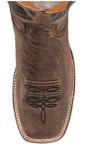 Corral Men's Brown Embroidery Square Toe Cowboy Boots [A3303]
