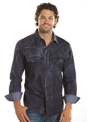 Rock and Roll Cowboy Men's Paisley Western Shirt [B2S2123] mens paisley button down