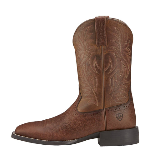Ariat® Men's Sport Western Fiddle Brown Square Toe Boots [10016291]