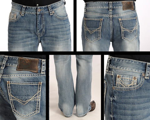 Rock and Roll Cowboy Men's Double Barrel Relaxed Fit Jeans [M0S4928]