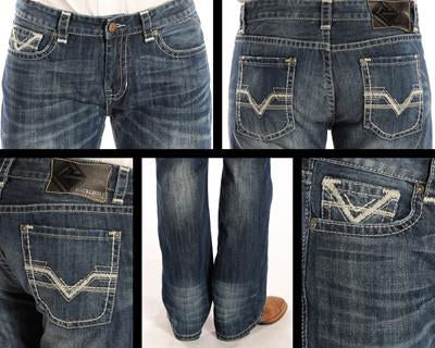 Rock and Roll Cowboy Men's Pistol Regular Fit Jeans [M1P2187]