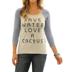 Wrangler® Save Water Love a Cactus 3/4 Sleeve Shirt [LWK719M]