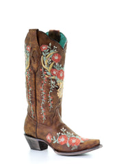 Corral Women's Boots Tan Deer Skull Embroidery  [A3652]