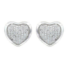 Montana Silversmiths Simply Pave Heart Earrings [ER3073]