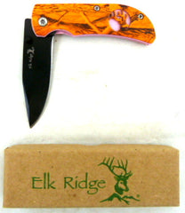 Elk Ridge Orange Camo Folding Knife [ER-1200C]