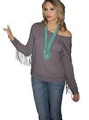 Southern Thread Shirt Womens Fringe French Terry [SSK5156000]