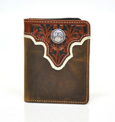 Ariat® Bi-Fold Flipcase Leather Western Men's Wallet [A3510437]