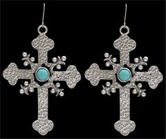 Angel Ranch Hammered Cross Earrings [E7009TQ]