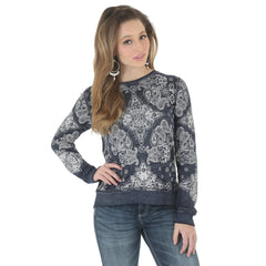 Wrangler Women's Bandana Print Long Sleeve Top [LWK782M]