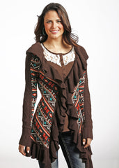Powder River Aztec Ruffled Cardigan [52-4034]