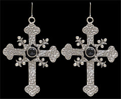 Angel Ranch Hammered Cross Earrings [E7009BK]