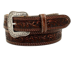 Nocona Men's MADE IN THE USA Pecos Brown Leather Belt [N2300702]