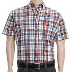 Cinch Western Shirt Mens S/S Plaid Button Woven White [MTW1111102]