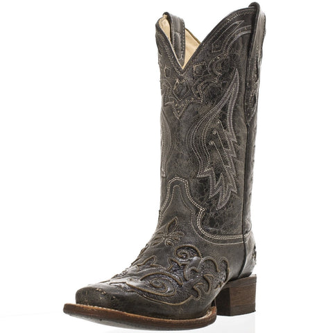 Corral Women's Vintage Black Python Inlay Boot [A2402]