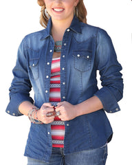 Cruel Girl Women's Denim Button Down [CTW7043001]
