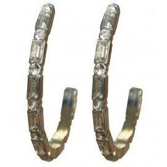 Gypsy Soule Crystal Hoop Earrings [DE412]