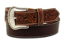 Ariat® Men's Floral Embossed Leather Belt [A1026602]