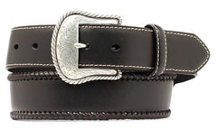 Nocona Western Mens Belt Leather Top Hand Laced Black [N2475601]