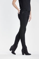 Miss Me Women's Darkest Hour Black Mid Rise Skinny Jeans [MS51515324]