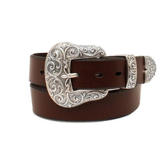 Ariat® Women's Brown Leather Scroll Belt [A1523202]