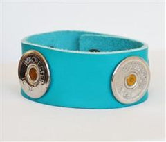 Spent Rounds 12 Gauge Winchester Turquoise Leather Bracelet [BRL]