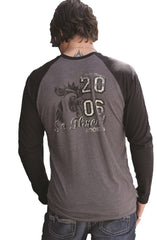 Southern Thread Shirt Mens Rooster Mascot Tee Gray [STT8909003]