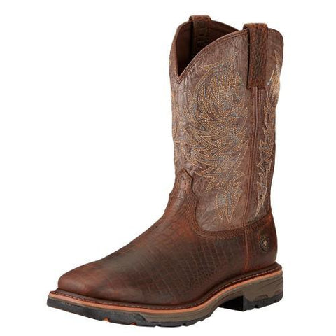 Ariat® Men's Workhog Croc Print Square Toe [10017415]