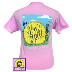 Girlie Girl Women's Hey Y'all Classic Pink T-Shirt [HYYLLSS]