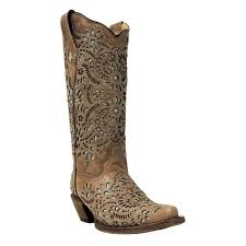 Corral Ladies Brown Glitter Inlay Boot [A3352]