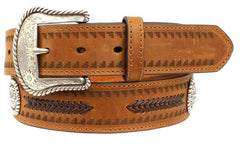 Ariat® Men's Aztec Arrow Lacing Concho Belt [A1033844]