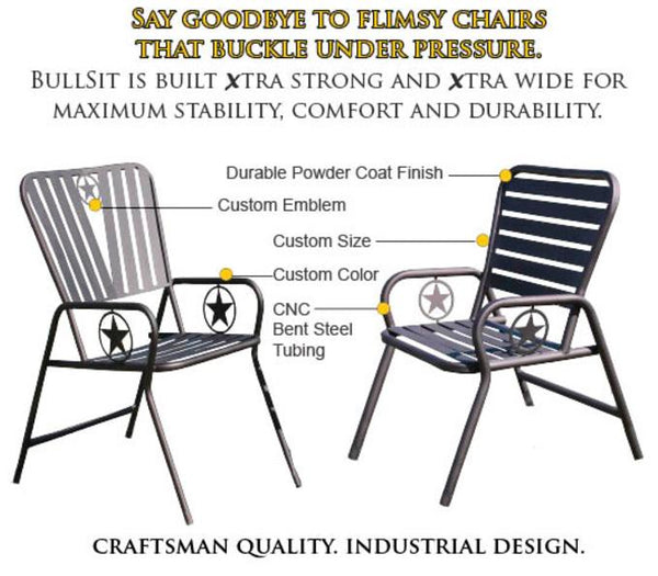 Industrial outdoor furniture ranch chairs fire grill pits