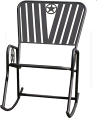 heavy outdoor rocking chair backyard, ranch, campground made in usa