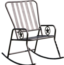 heavy outdoor rocking chair backyard, ranch, campground