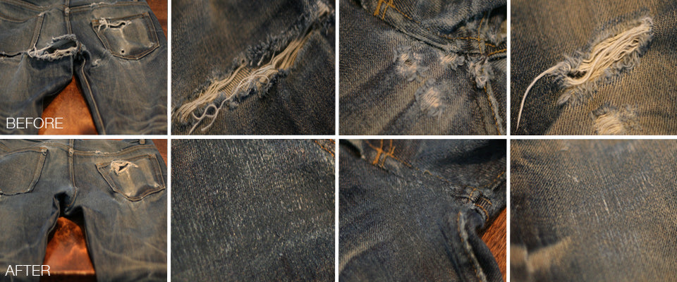 Denim Repair using Darning
