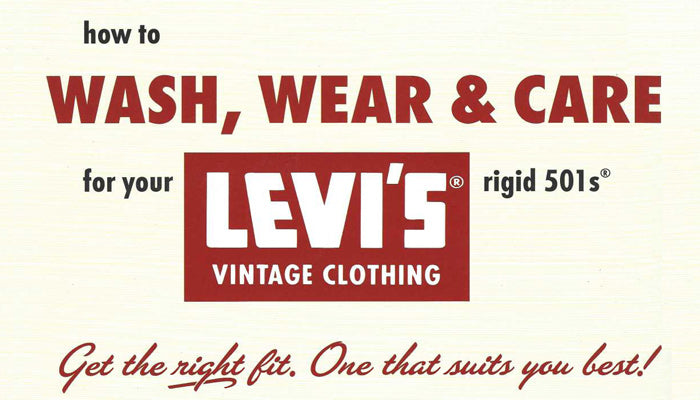 Levi's Wash Guide