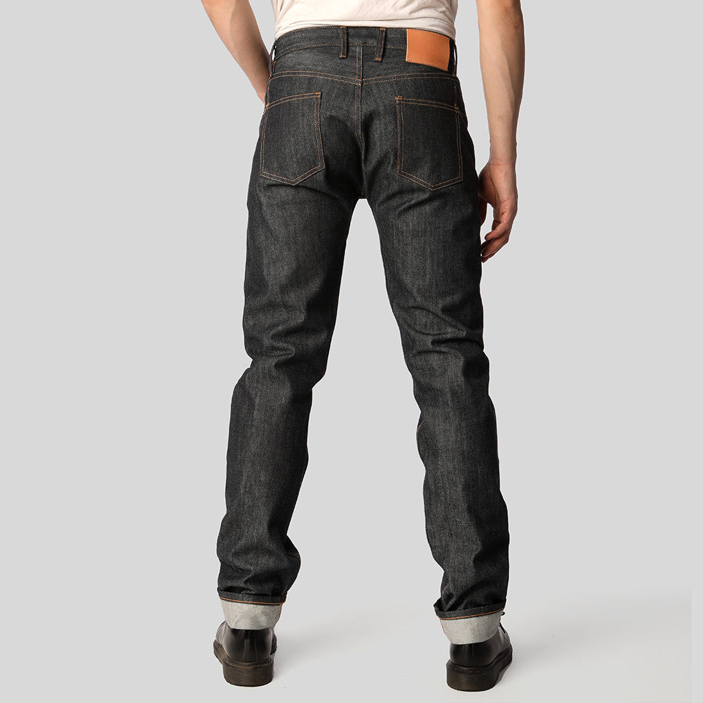 3sixteen CT-100x Classic Tapered raw denim selvedge jeans - rear view