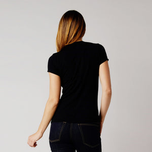 BDC Bonnet Top Black T-Shirt